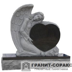 Мемориал из гранита с ангелом. Макет №1