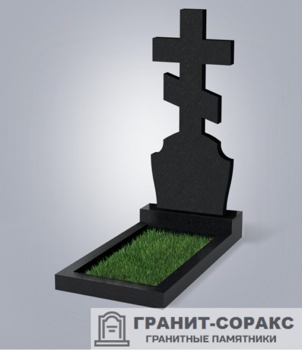 Крест на монументе из гранита №16