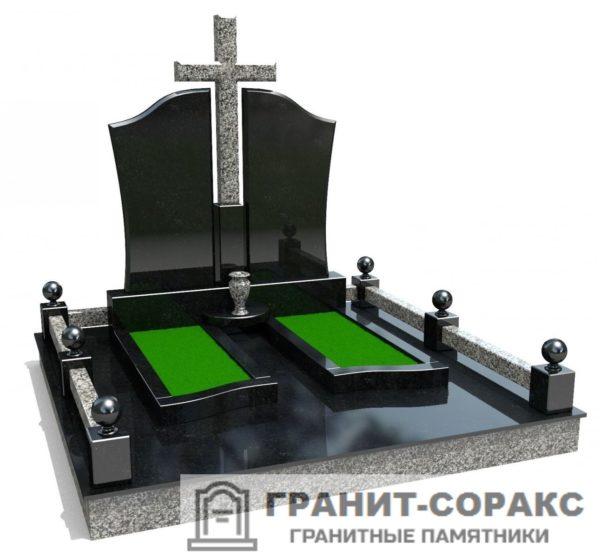 Мемориал из гранита на кладбище №2