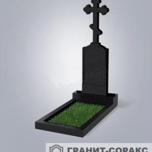 Крест на монументе из гранита №17
