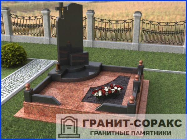 Мемориал из гранита на кладбище №22