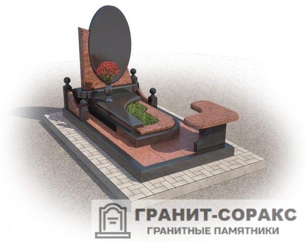 Мемориал из гранита на кладбище №29