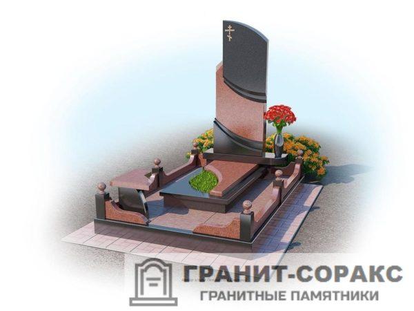 Мемориал из гранита на кладбище №3