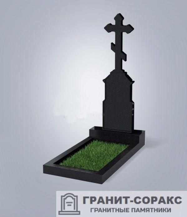 Крест на монументе из гранита №3