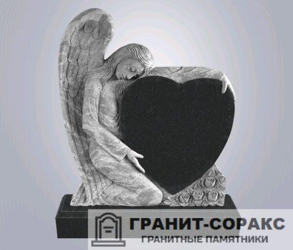 Мемориал из гранита с ангелом. Макет №3