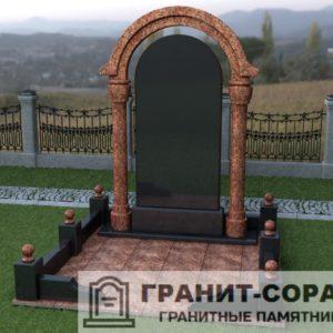 Мемориал из гранита на кладбище №32