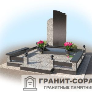 Мемориал из гранита на кладбище №4