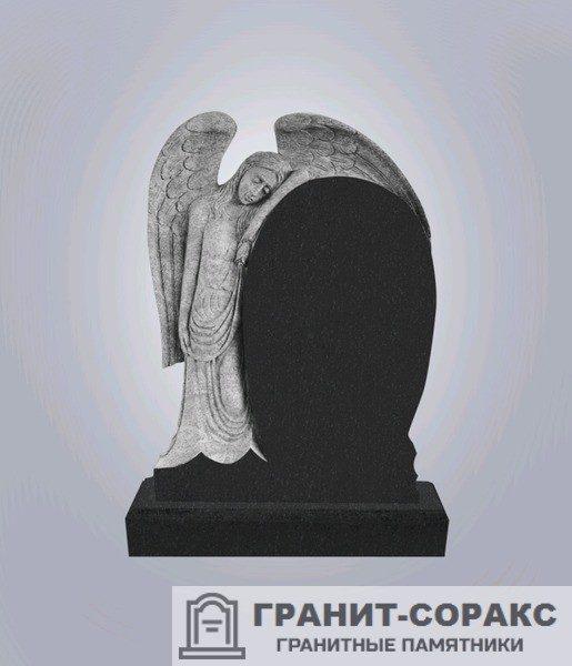 Мемориал из гранита с ангелом. Макет №4