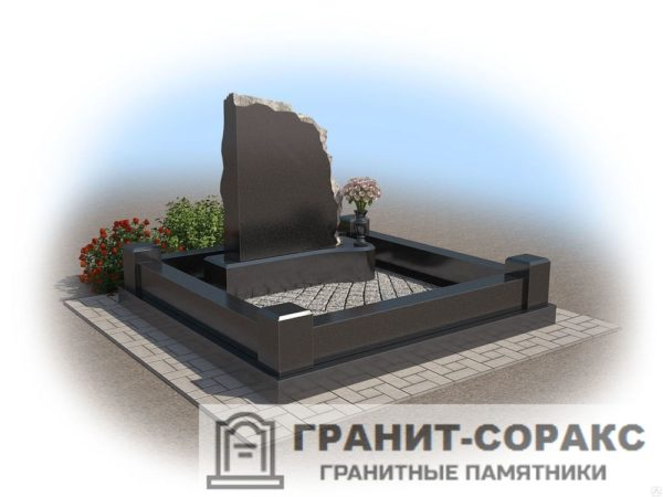 Мемориал из гранита на кладбище №6