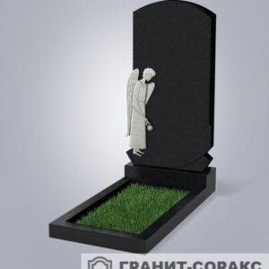 Мемориал из гранита с ангелом. Макет №6