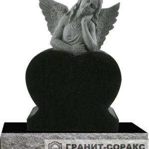 Мемориал из гранита с ангелом. Макет №7