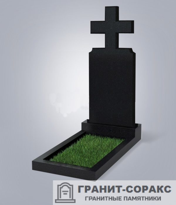 Крест на монументе из гранита №8