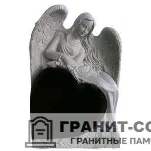 Мемориал из гранита с ангелом. Макет №8