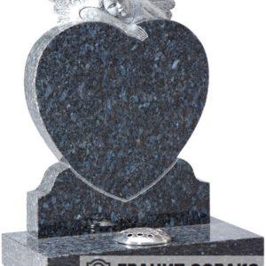 Мемориал из гранита с ангелом. Макет №9