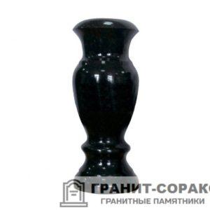 Вазон из гранитного камня черного цвета