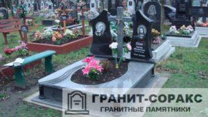 Комплексы на кладбище из гранита №14