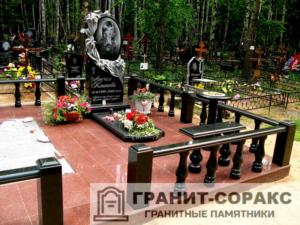 Комплексы на кладбище из гранита №6