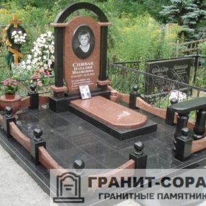 Комплексы на кладбище из гранита №5