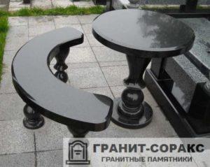Столы и скамьи из гранита №11