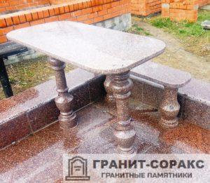 Столы и скамьи из гранита №13