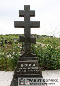 Памятник крест из гранита №14