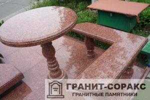 Столы и скамьи из гранита №15
