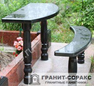 Столы и скамьи из гранита №2