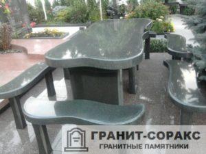 Столы и скамьи из гранита №3