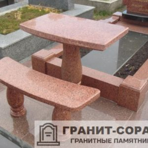 Столы и скамьи из гранита №4