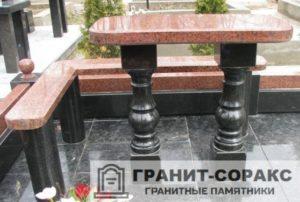 Столы и скамьи из гранита №5