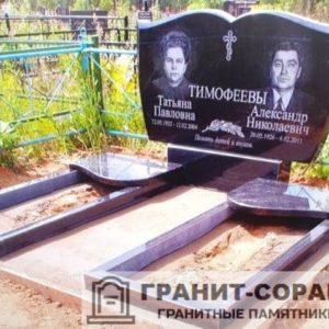 Фото и цена двойного семейного памятника