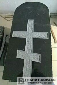 Мемориал с резным крестом №1