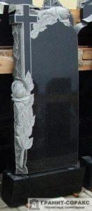 Мемориал с резным крестом №10