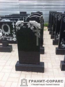 Мемориал с резным крестом №15