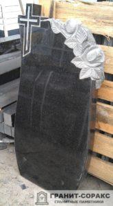 Мемориал с резным крестом №3