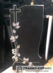 Мемориал с резным крестом №4
