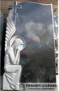 Мемориал с резным крестом №5