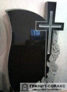 Мемориал с резным крестом №6