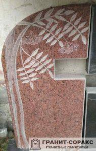 Фото гранитного памятника с цветами №2