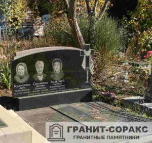 Фотография тройного семейного памятника 14