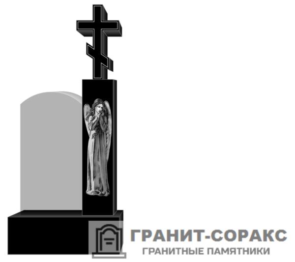 Крест на монументе из гранита №20