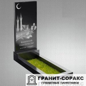 Фотография гранитного мусульманского памятника, Вар. 10