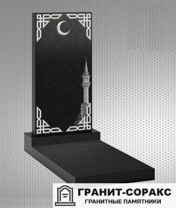 Фото гранитного мусульманского красивого памятника, Вариант 11
