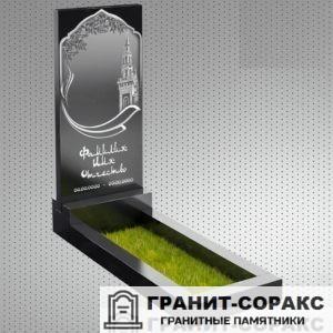 Фото гранитного мусульманского красивого памятника, Вариант 12