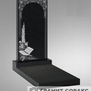 Фото гранитного мусульманского красивого памятника, Вариант 13
