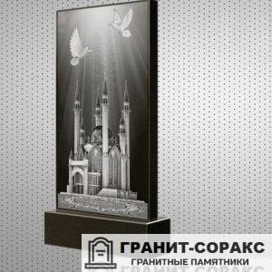 Фото гранитного мусульманского красивого памятника, Вариант 16