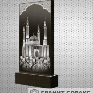 Фото гранитного мусульманского красивого памятника, Вариант 18