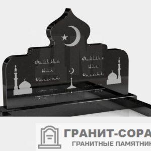 Фотография гранитного мусульманского памятника, Вар. 5