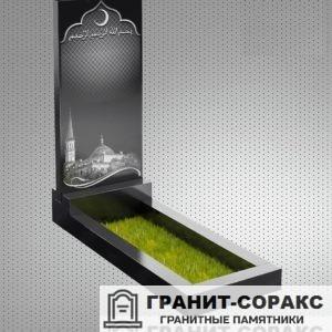 Фотография гранитного мусульманского памятника, Вар. 7