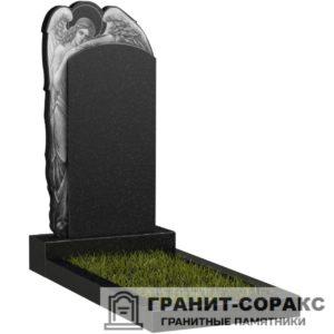 Мемориал из гранита с ангелом. Макет №12